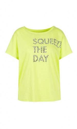 Baumwoll-Shirt mit Aufdruck