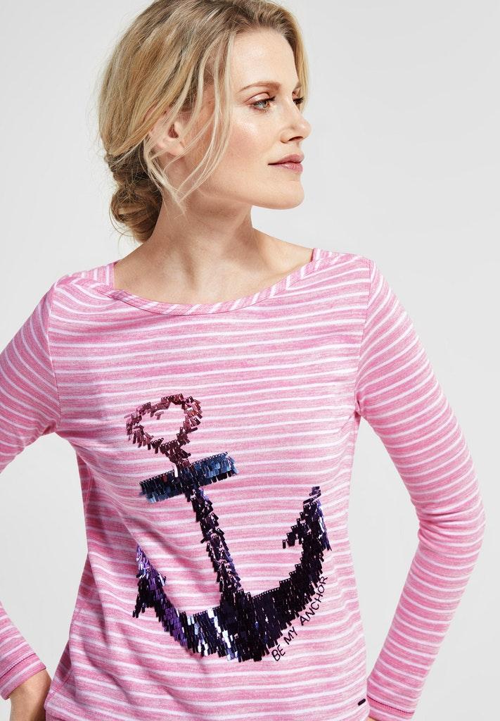 b96447b5541e2a Shirt mit Pailletten | T-Shirts langarm | Shirts | Damen | Modehaus ...