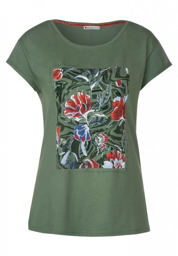 T-Shirt mit Blumenprint