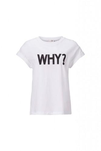 T-Shirt mit WHY print