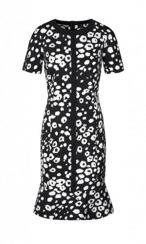 Kleid mit abstrahiertem Leoprint