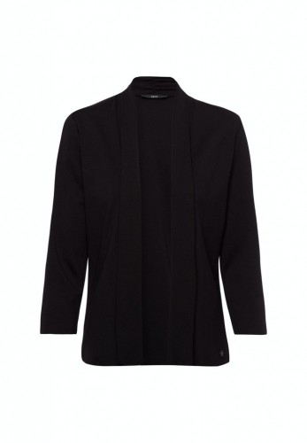 Jersey Jacke mit Schalkragen