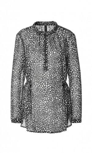 Bluse mit grafischem Animal-Muster