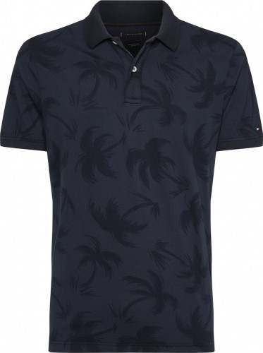 Polo 1/2 Arm Allover Palm Slim