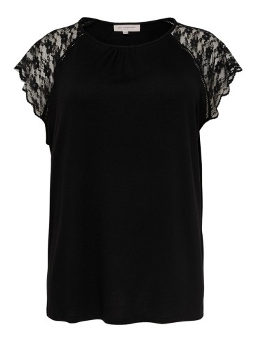 CARAMBER SS LACE TOP ESS