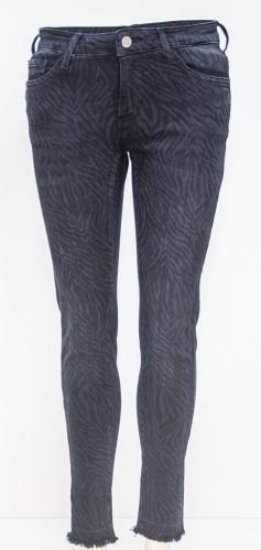 Modische Stretch Jeans im Zebra Style