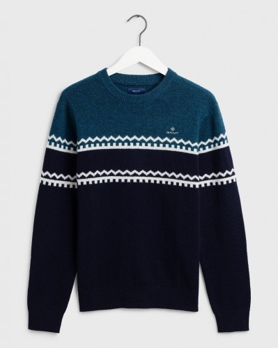 Holiday Stripe Crew Sweater
