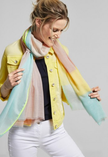 Color Block Schal mit Muster