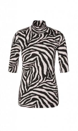 Baumwoll-Shirt mit Zebra-Design