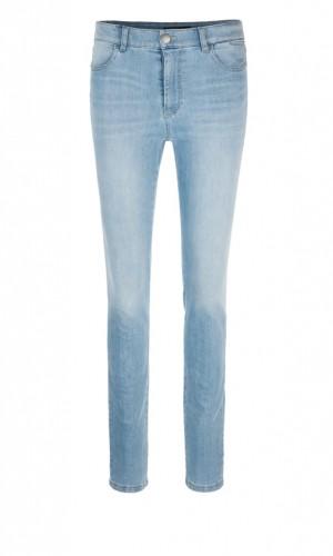 Schmale Jeans mit hohem Bund