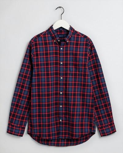 Tech PrepT Regular Fit Oxford-Hemd mit Mini-Tartan-Muster
