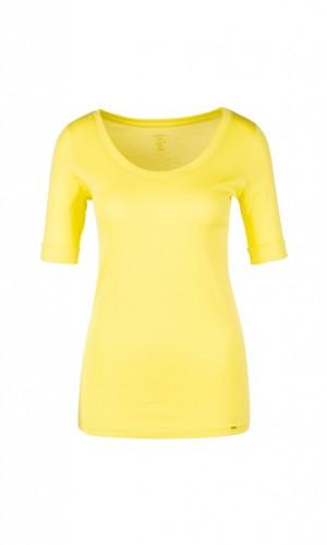 Basic-Shirt mit Halbarm