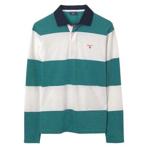3-Color Oxford Rugbyshirt mit Streifen