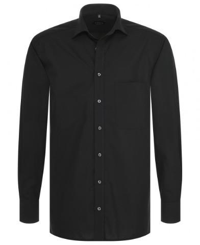 ETERNA Comfort Fit Uni Popeline Langarmhemd schwarz