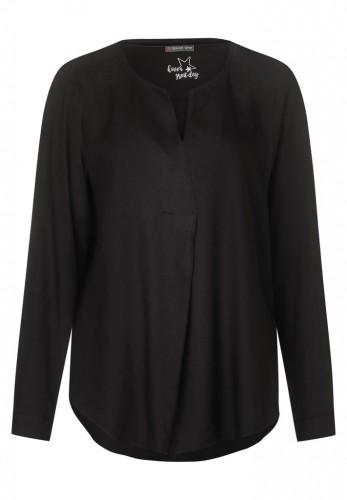 Unifarbene Struktur-Bluse