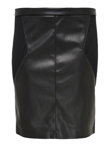 CARBEA FAUX LEATHER MIX PENCIL SKIRT