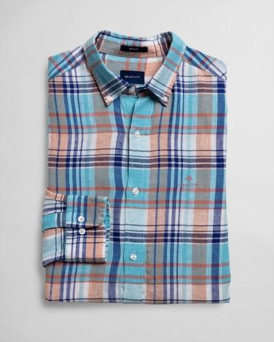 Leinen Madras Hemd