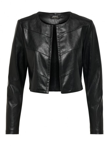 ONLPEGGY FAUX LEATHER BOLERO JACKET OTW