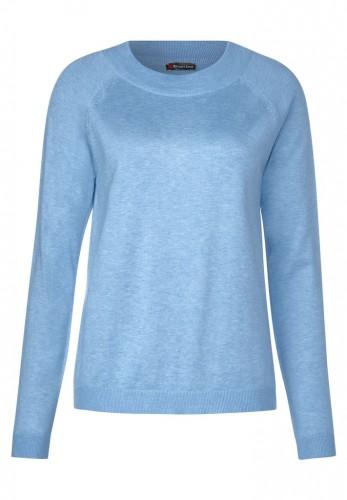 Unifarbener Pullover