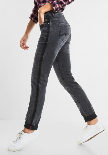 Graue Casual Fit Denim Jane