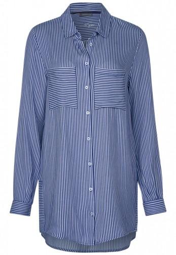 Lang geschnittene Bluse