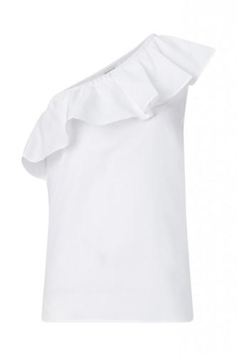 One Shoulder Bluse mit Volant