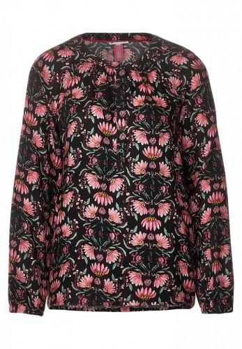 Raglan-Bluse mit Blumen