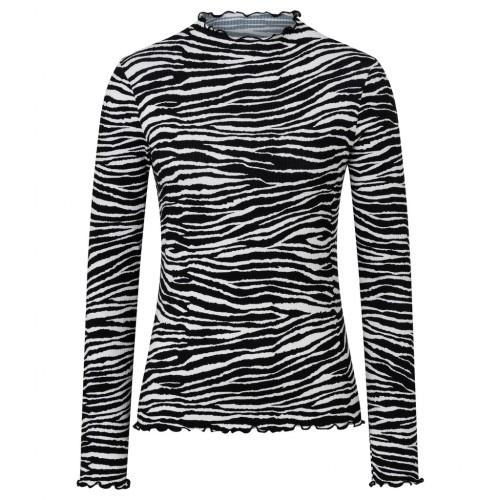 Shirt 1/1 Arm Zebra Print