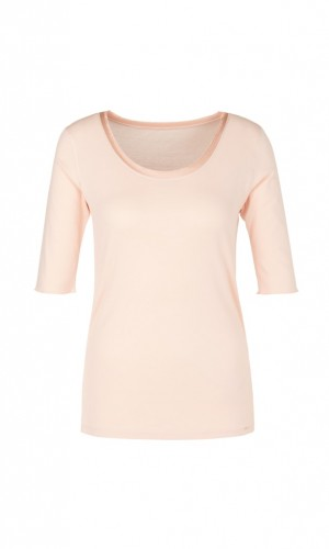 Basic-Shirt mit Seidendetails