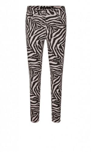 Verkürzte Jeans mit Zebra-Muster