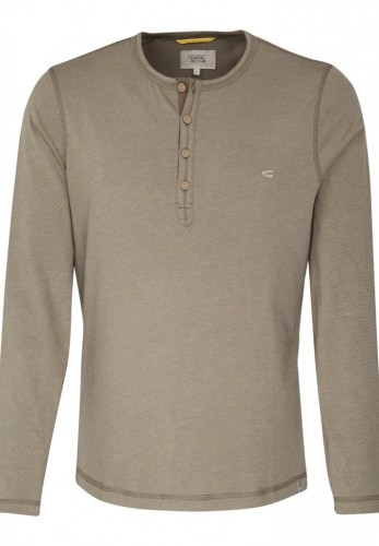 Polo-Shirt LS HENLEY FINE STRIPES