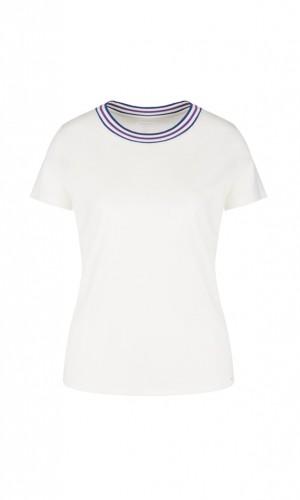 Basic-T-Shirt mit Strickbündchen