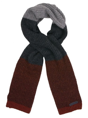 Scarf Multi Color Rib Knit