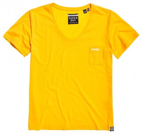 T-Shirt Essential Vee mit aufgesetzer Tasche