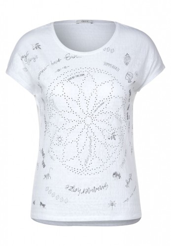 T-Shirt mit Mandala-Print