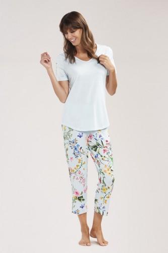 Pyjama-Set Shirt 1/2 Arm und Hose 7/8 Länge