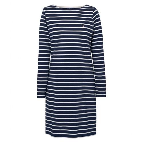 Breton Kleid mit U-Boot-Ausschnitt